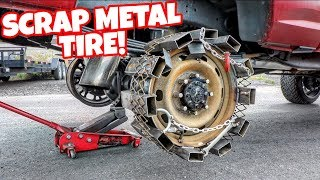 making-a-tire-out-of-scrap-metal-will-it-work