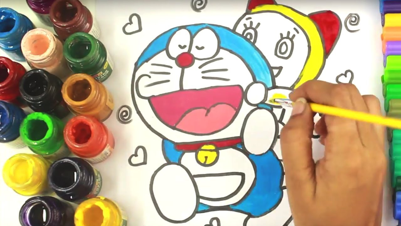 Doraemon Coloring Pages For Kids And Color Dora Friends Fun Maainan Doraemoon Kyutt Video New