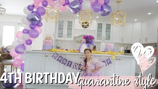 MILA'S 4TH BIRTHDAY VLOG | SOCIAL DISTANCING DRIVE BY | QUARANTINE STYLE BIRTHDAY | DITL