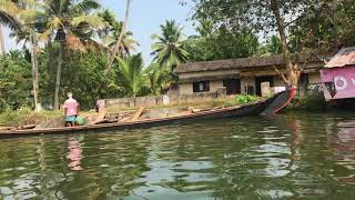 Building a house on the river bank of Alleppey, India