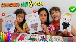 DESAFIO COLORINDO COM 3 CORES (3 MARKER CHALLENGE)