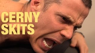 AMANDA CERNY SKITS Massaging SteveO ft KING BACH, STEVEO, STEVIE MACKEY, CURTIS LEPORE