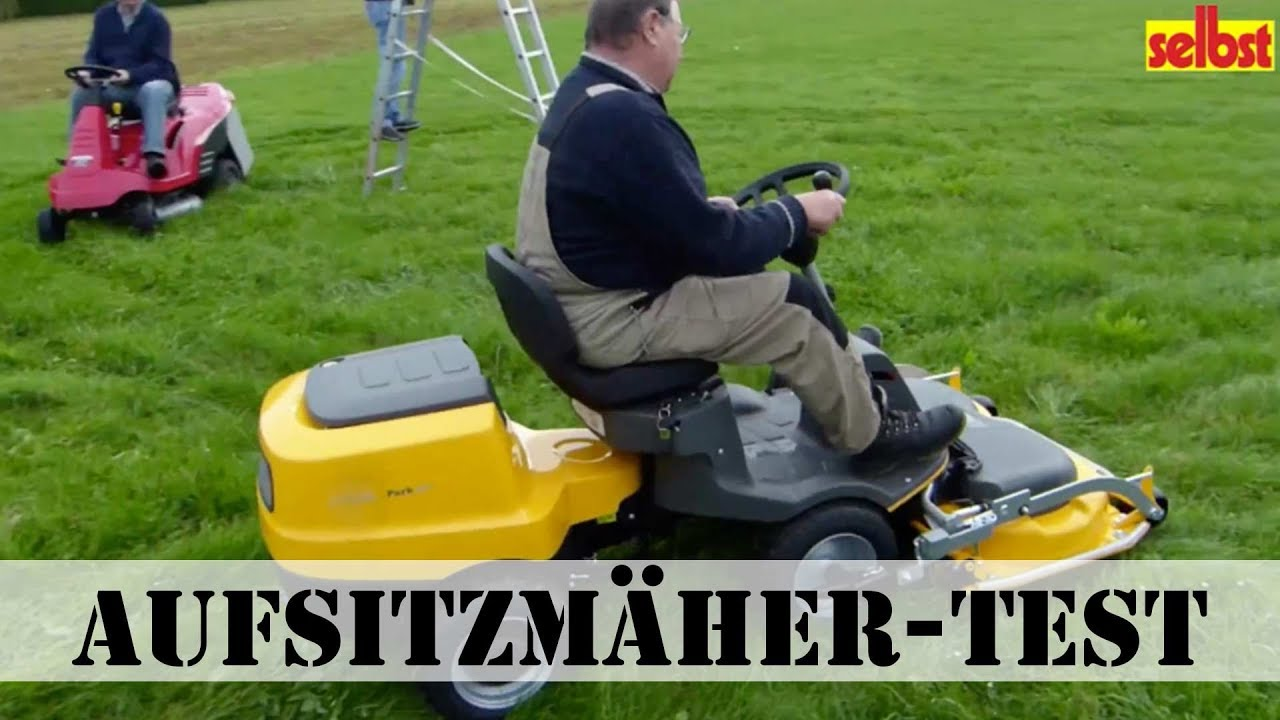 aufsitzmäher test - youtube