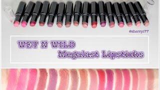 sherryi77   lipstick swatches   wet n wild megalast lipsticks 16 shades