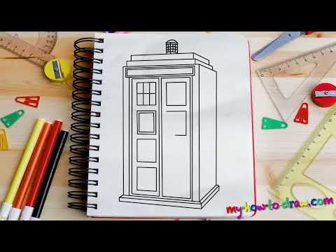Как нарисовать тардис