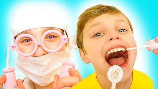 Going To The Dentist Song | English Version | Pretend Play Sing-Along to Nursery Rhymes Kids Songs
