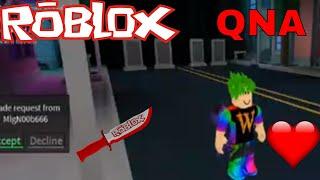 Roblox Assassins: QNA + Chill livestream