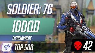 [Top 500] IDDQD as Soldier: 76 on Eichenwalde | Competitive Overwatch