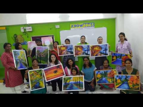 Canvas Painting Class Pune | Learn Canvas Painting in a Day