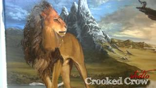 Narnia Painting: Aslan Time Lapse