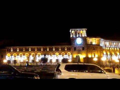 Yerevan at night - Republic square Yerevan , Armenia - ՀԱՅԱՍՏԱՆ
