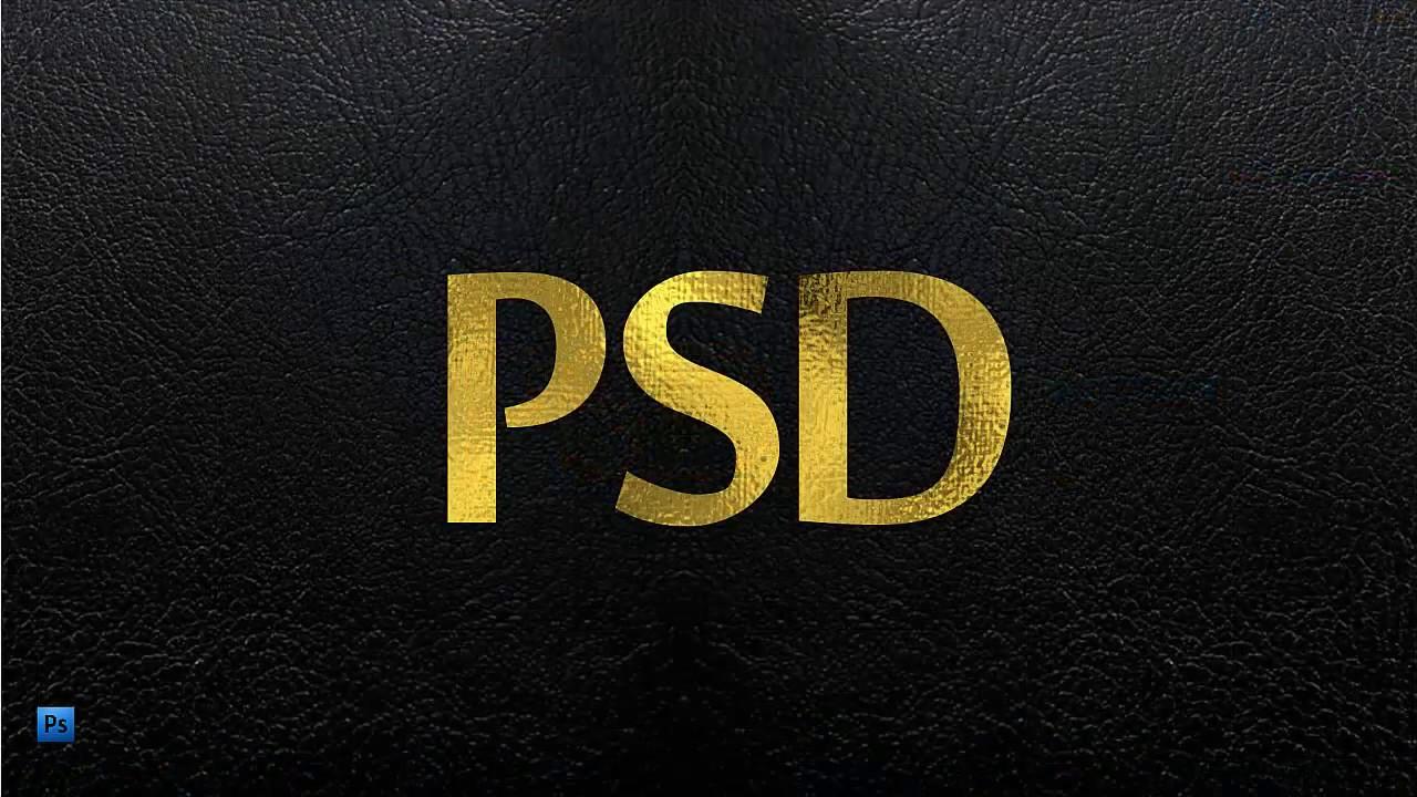 Photoshop 教學 - 簡單印刷燙金文字效果製作 - YouTube