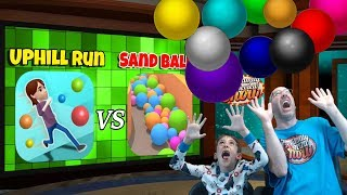 Uphill Run vs Sand Balls Gameplay and Review