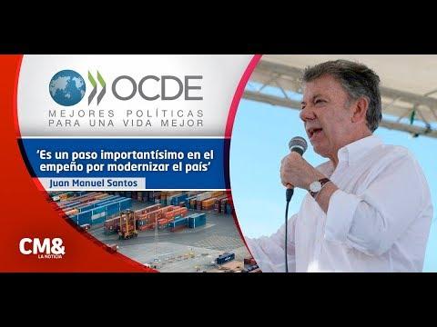 Presidente Santos celebra ingreso de Colombia a la Ocde