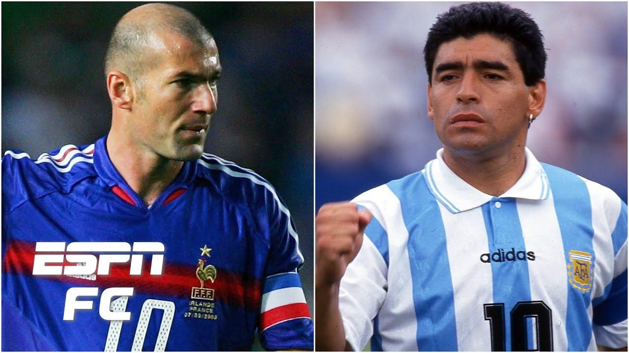 Zinedine Zidane or Diego Maradona: Who was the better player? | ESPN FC  Extra Time - YouTube