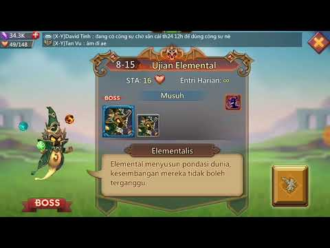 Lords Mobile Hero Stage 8-15 Elite F2p