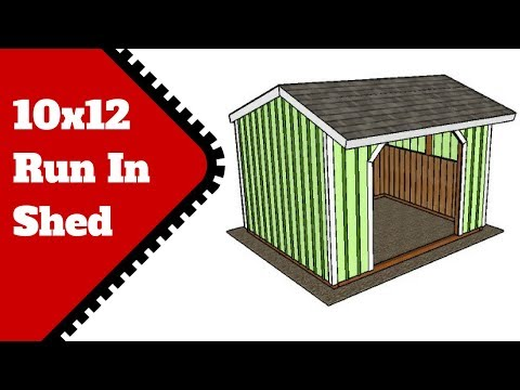 10x12 Run In Shed Plans Free