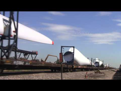 Union Pacific / Vestas Wind Turbine Train
