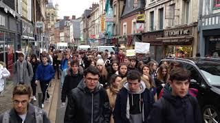 Marche des jeunes pour le climat à Bernay (Eure)