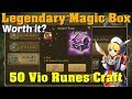 Summoners War - Legendary Magic Boxes and 50 Vio Runes Craft!!!