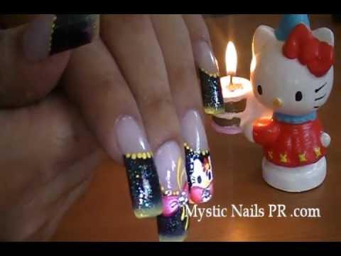 kitty nail art . jennifer