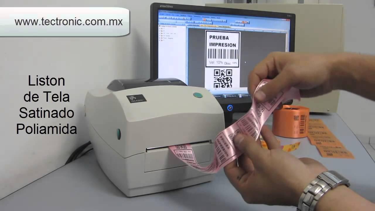 Impresora T 233 Rmica De Listones Y Rollos De Tela An 225 Lisis