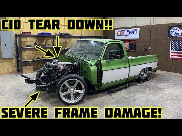 Rebuilding Gas Monkey Garage Wrecked 1976 Chevy C10 Part 2