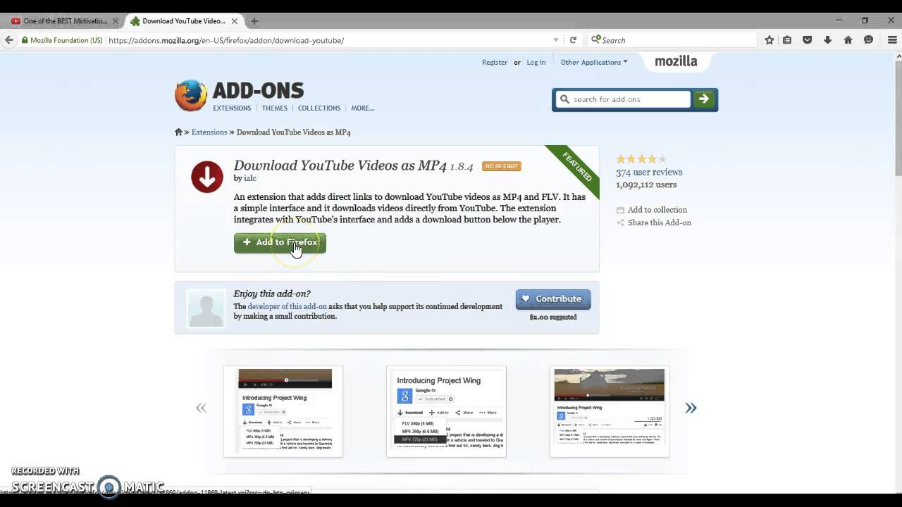 How to download a youtube video to your pc using firefox addons how to download a youtube video to your pc using firefox addons ccuart Images