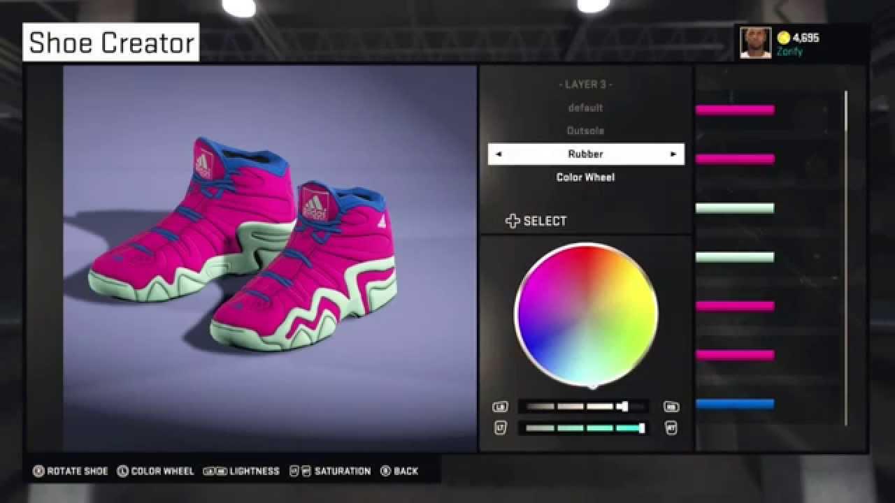 best sneakers 0d142 d9ef5 NBA 2K15 Shoe Creator - Adidas Crazy 8