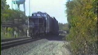 Conrail, NS, and Amtrak action - Butler, Indiana - October 4, 1989