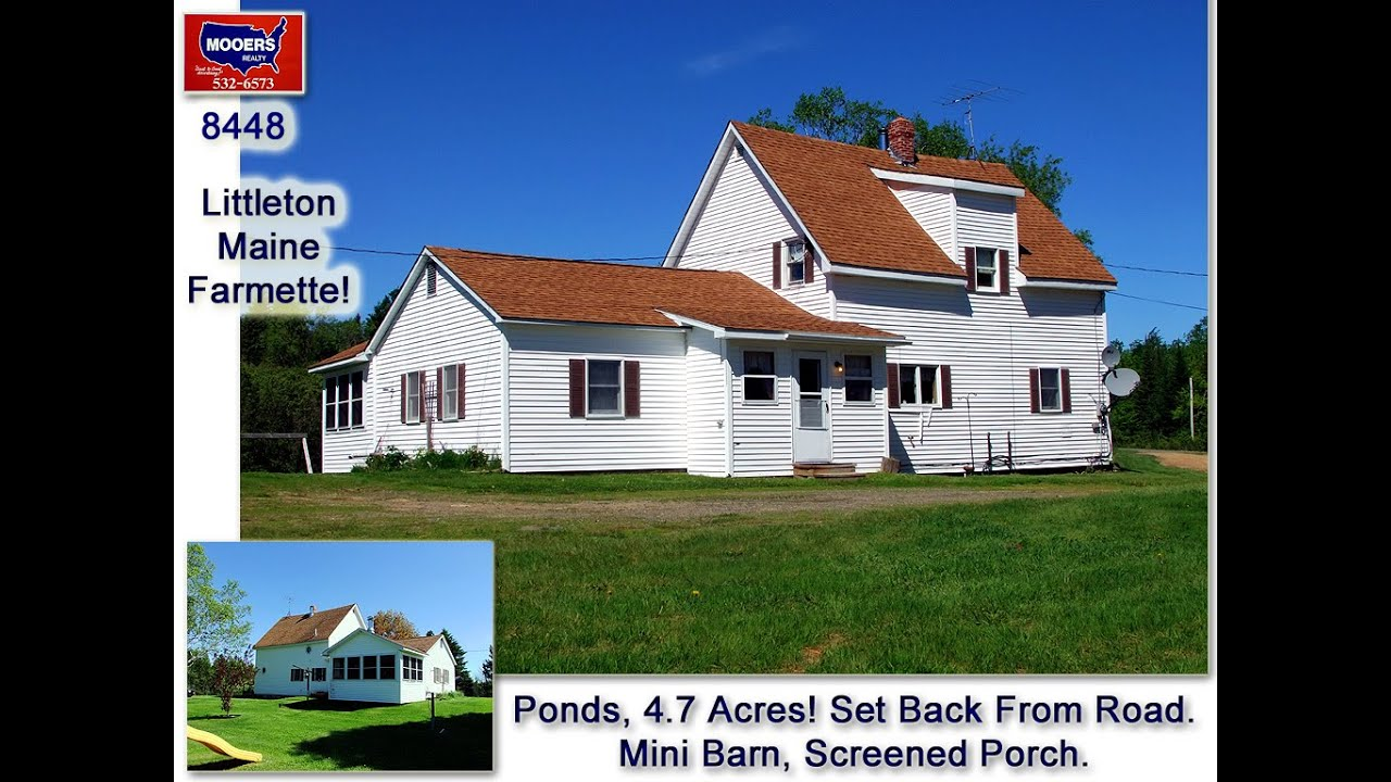 Maine homes land for sale 236 back ridge road littleton for Country homes with acreage for sale