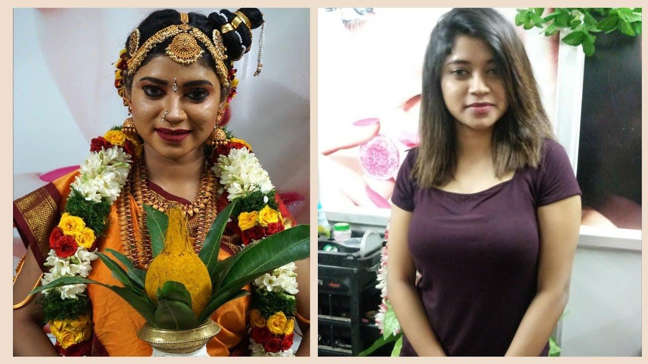 Download Traditional Iyengar Bridal Makeup Look|2 Mins Madisar Saree Draping |Bridal Muhurtham Look
