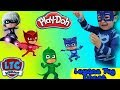 Fishing Family Fun Game for Kids PJ Mask with Play Doh and Paw Patrol