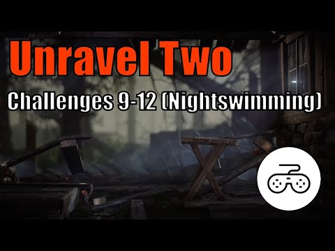 Unravel Two Gameplay - Challenges 9-12 (Nightswimming Challenges) |
