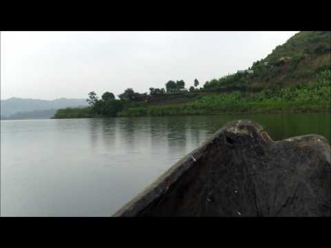 Uganda Dugout Canoeing Lake Mutanda