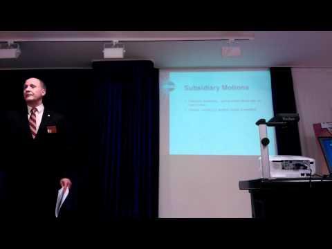 Robert's Rules of Order - Parliamentary Procedures - Part 2