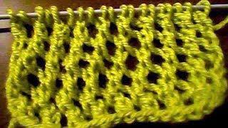 Узор для вязания спицами сетка