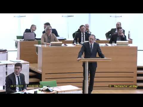 Knallharte Antwort auf die Regierungserklärung von Kretschmer,CDU von Jörg Urban, AfD 29.01.2020