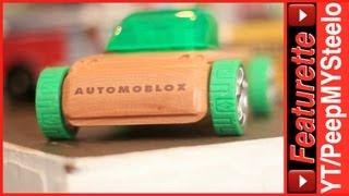 Wooden Automoblox Cars From Minis To Larger Hot Rod & T900 Truck To Wood Pink Car Toys For Kids
