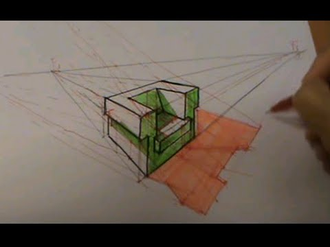 Silln en perspectiva cnica con dos fugas y sombras  YouTube