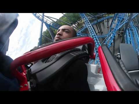 Blue Hawk Rollercoaster in 360° VR Video! Six Flags Over Georgia!