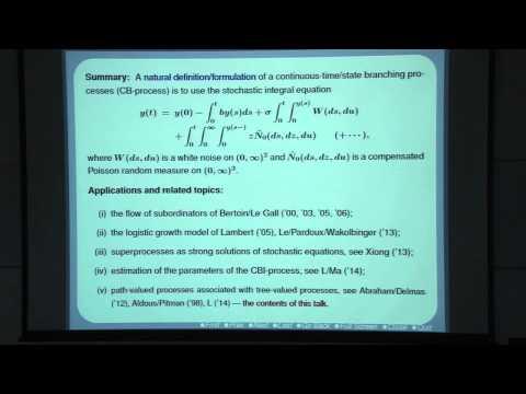 Zenghu Li: Path-valued Processes Associated with Tree-valued Processes