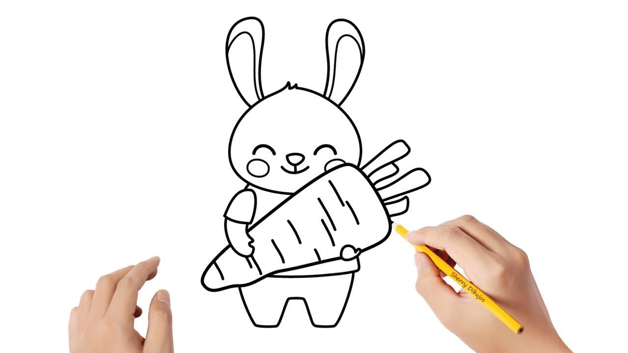Como Dibujar Un Conejo Con Una Zanahoria Dibujos Sencillos Youtube Como toda torta zanahoria, es muy nutritiva, tiene un color y textura increíbles ademas del sabor delicado de la torta. como dibujar un conejo con una zanahoria dibujos sencillos