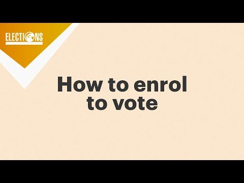How to enrol to vote