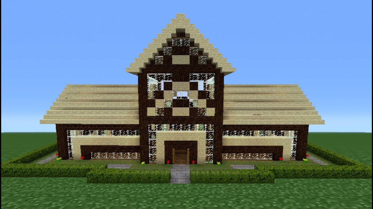 Minecraft Tutorial: How To Make A Wooden House - 7 - YouTube