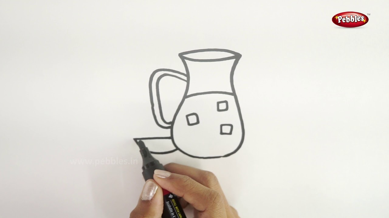 Drawing Step By Step How To Draw A Jug Learn Drawing For Beginners Drawing Basics Kids Youtube