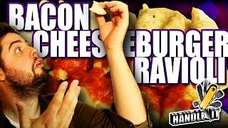Bacon Cheeseburger Ravioli - Handle It
