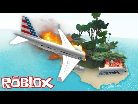 Roblox - The Island - PLANE CRASH INTO DEMON ISLAND!!