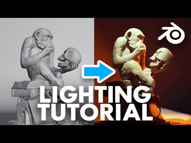Blender Lighting Tutorial for 3D Beginners - Learn how to Light