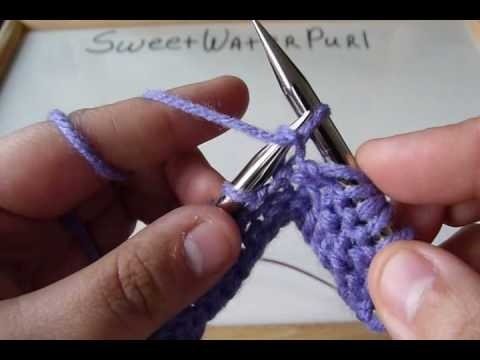 Knitting Continental Method Purl Variation 1 Youtube